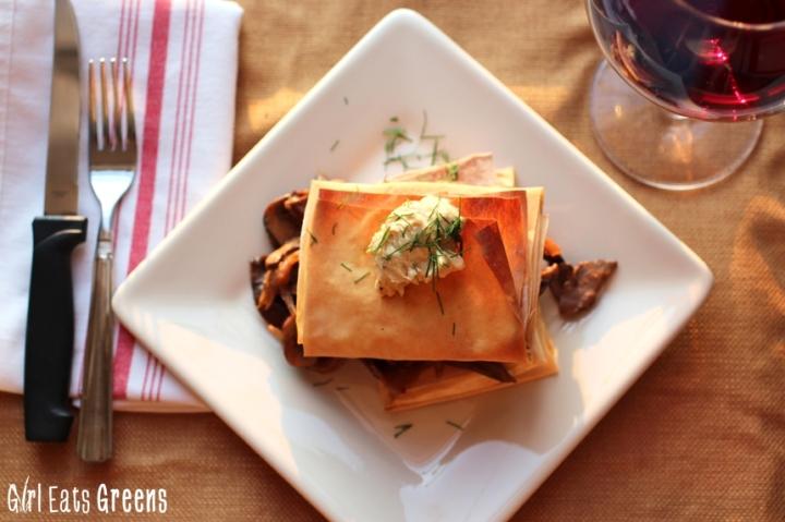 Greek Style Mushroom Phyllo Dough Pastry Girl Eats Greens_0018