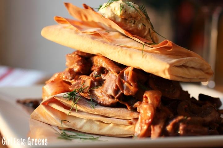 Greek Style Mushroom Phyllo Dough Pastry Girl Eats Greens_0023