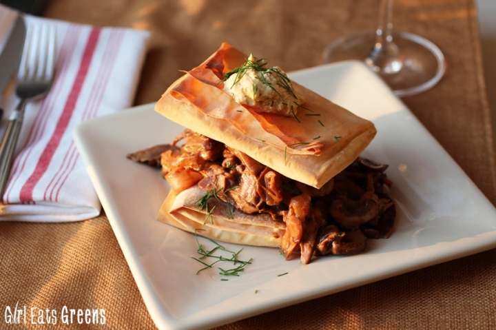 Greek Style Mushroom Phyllo Dough Pastry Girl Eats Greens_0025