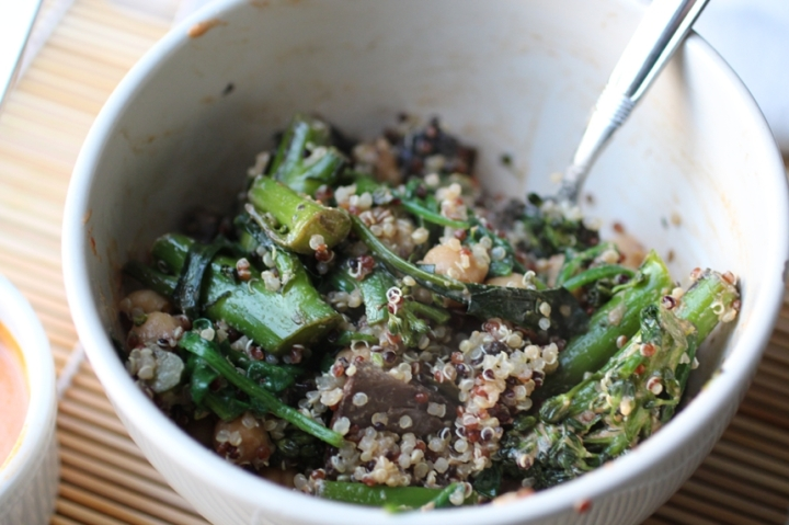 Quinoa Bowl with Tahini Sriracha Sauce Girl Eats Greens_0011