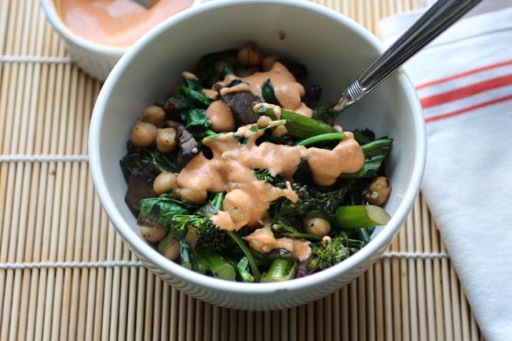Quinoa Bowl with Tahini Sriracha Sauce Girl Eats Greens_0012