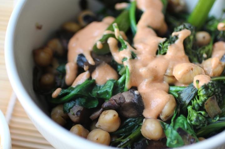 Quinoa Bowl with Tahini Sriracha Sauce Girl Eats Greens_0013