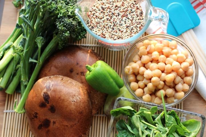 Quinoa Bowl with Tahini Sriracha Sauce Girl Eats Greens_0022