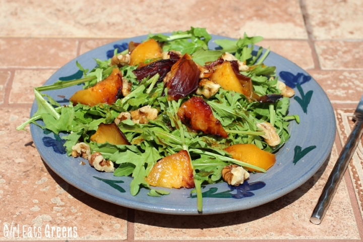 Grilled Peach Salad with Chili Lime Dressing Vegan Girl Eats Greens_0033