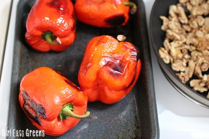 Roasted Red Pepper Walnut Spread Dip Vegan Girl Eats Greens_0027