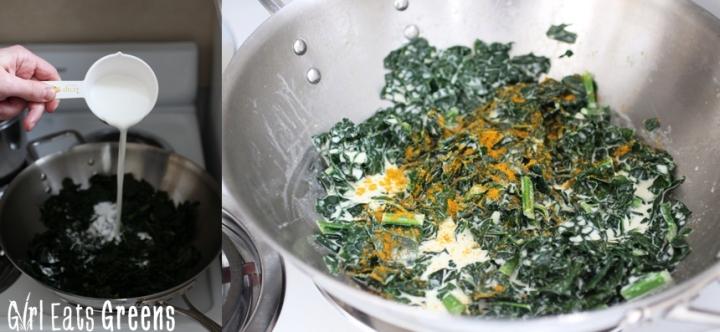Coconut Curry Creamed Kale Gluten Free Vegetarian Vegan Girl Eats Greens_0010