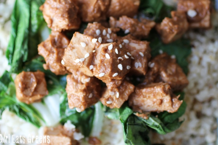 Ginger Peanut Tofu Cauliflower Rice Gluten Free Vegetarian Vegan Girl Eats Greens_0016