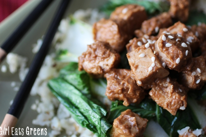 Ginger Peanut Tofu Cauliflower Rice Gluten Free Vegetarian Vegan Girl Eats Greens_0023
