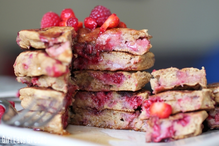Very Berry Pancakes Raspberry Strawberry Gluten Free Vegan Girl Eats Greens_0033