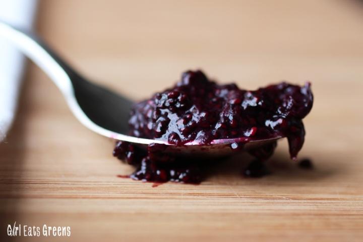 Blueberry Chia Seed Jam Low Sugar Vegan Vegetarian Girl Eats Greens_0019