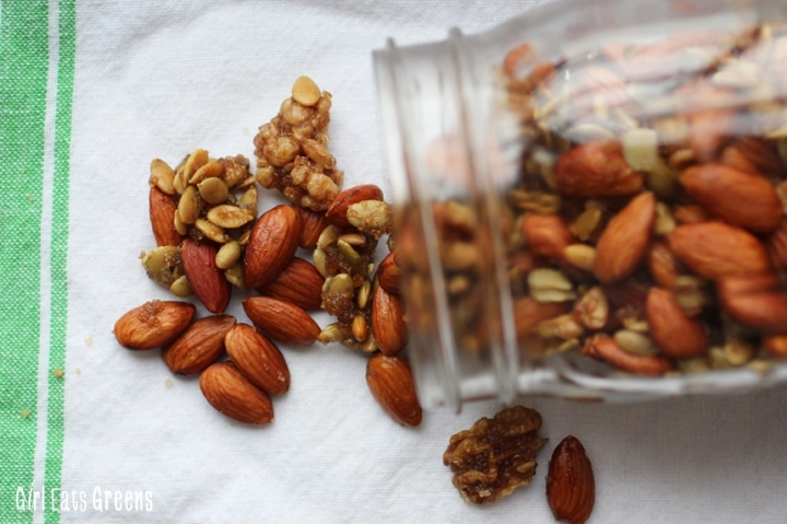 Spicy Ginger Mixed Nuts Walnuts Almonds Pepitas Vegetarian Vegan Girl Eats Greens_0011