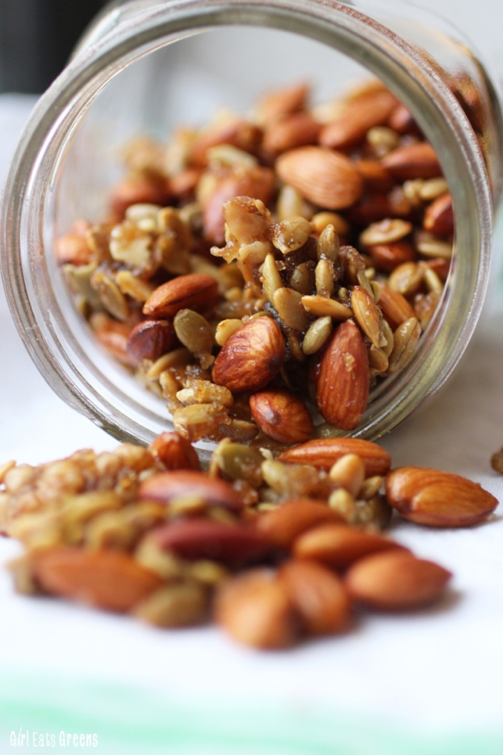 Spicy Ginger Mixed Nuts Walnuts Almonds Pepitas Vegetarian Vegan Girl Eats Greens_0013