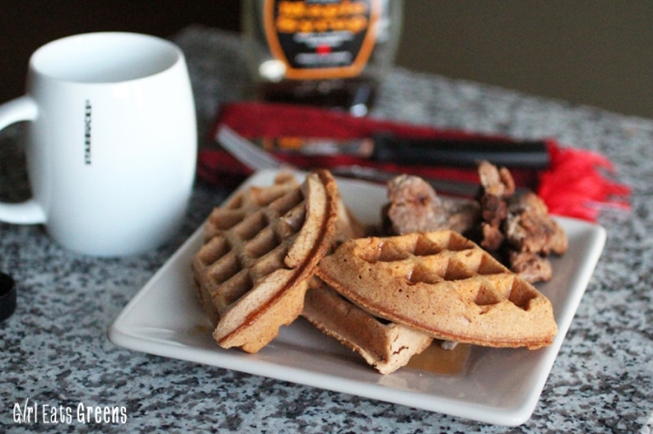 Chicken and Chili Cornbread Waffles Vegan Vegetarian Girl Eats Greens_0014