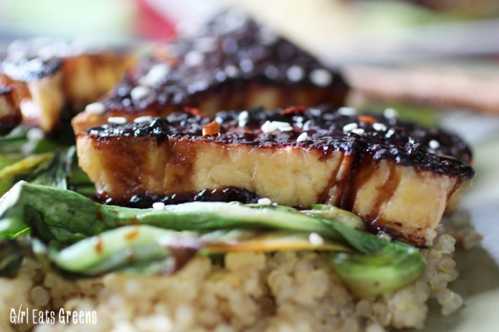 Teriyaki Broiled Tofu with Sesame Seared Bok Choy Gluten Free Vegan Vegetarian Girl Eats Greens_0011