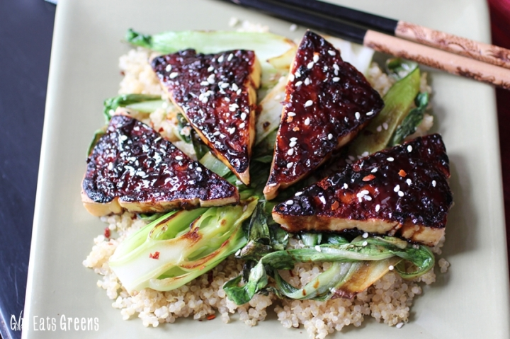 Teriyaki Broiled Tofu with Sesame Seared Bok Choy Gluten Free Vegan Vegetarian Girl Eats Greens_0014