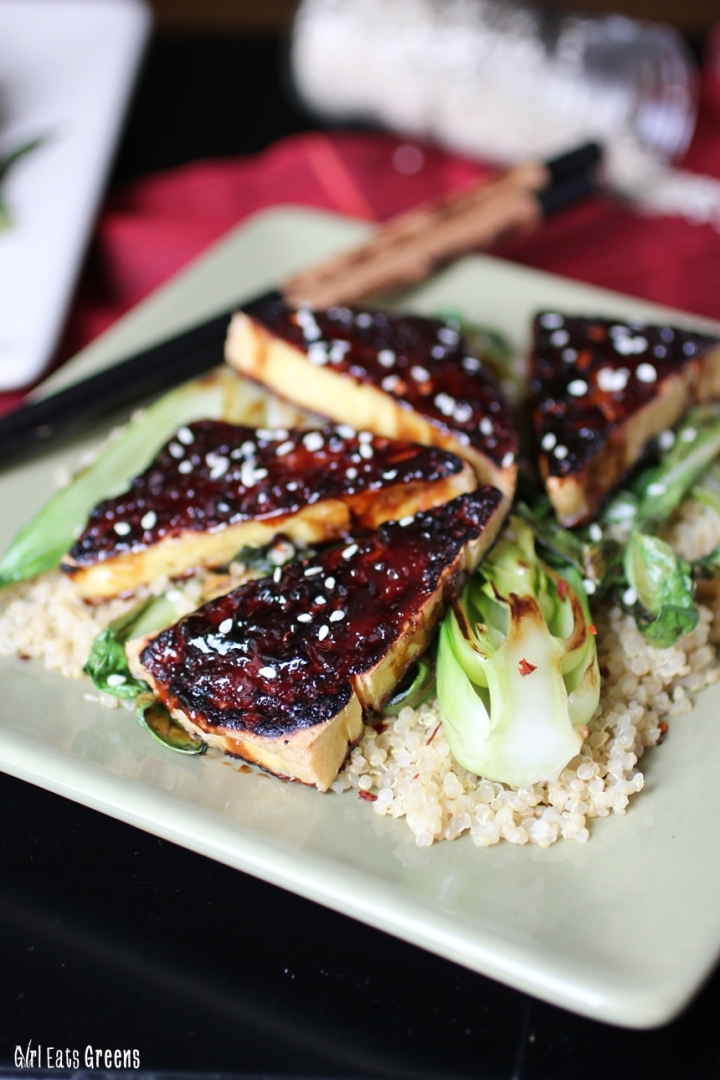 Teriyaki Broiled Tofu with Sesame Seared Bok Choy Gluten Free Vegan Vegetarian Girl Eats Greens_0017