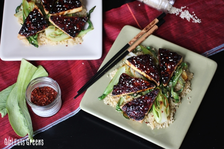 Teriyaki Broiled Tofu with Sesame Seared Bok Choy Gluten Free Vegan Vegetarian Girl Eats Greens_0019