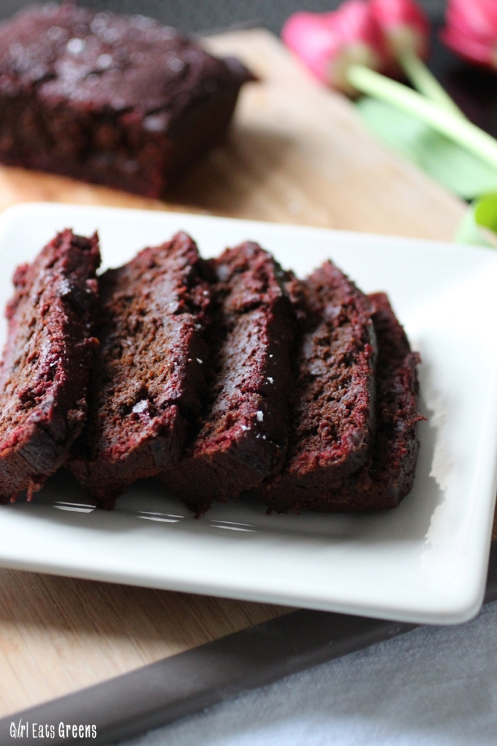 Fudgy Chocolate Chip Beet Banana Bread Vegan Vegetarian Girl Eats Greens_0011