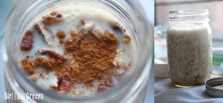 Maple Pecan Overnight Oats Gluten Free Vegan Vegetarian Girl Eats Greens_0010