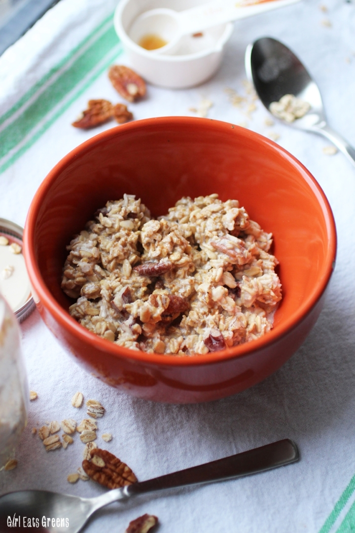 Maple Pecan Overnight Oats Gluten Free Vegan Vegetarian Girl Eats Greens_0018