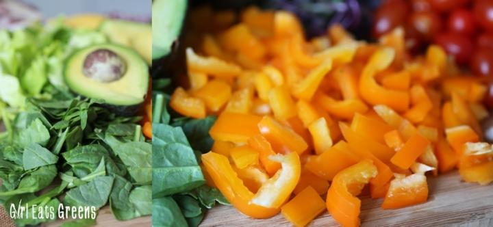 Rainbow Salad Ginger Sesame Dressing Vegan Vegetarian Gluten Free Girl Eats Greens_0011