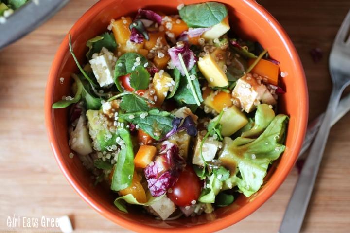 Rainbow Salad Ginger Sesame Dressing Vegan Vegetarian Gluten Free Girl Eats Greens_0012