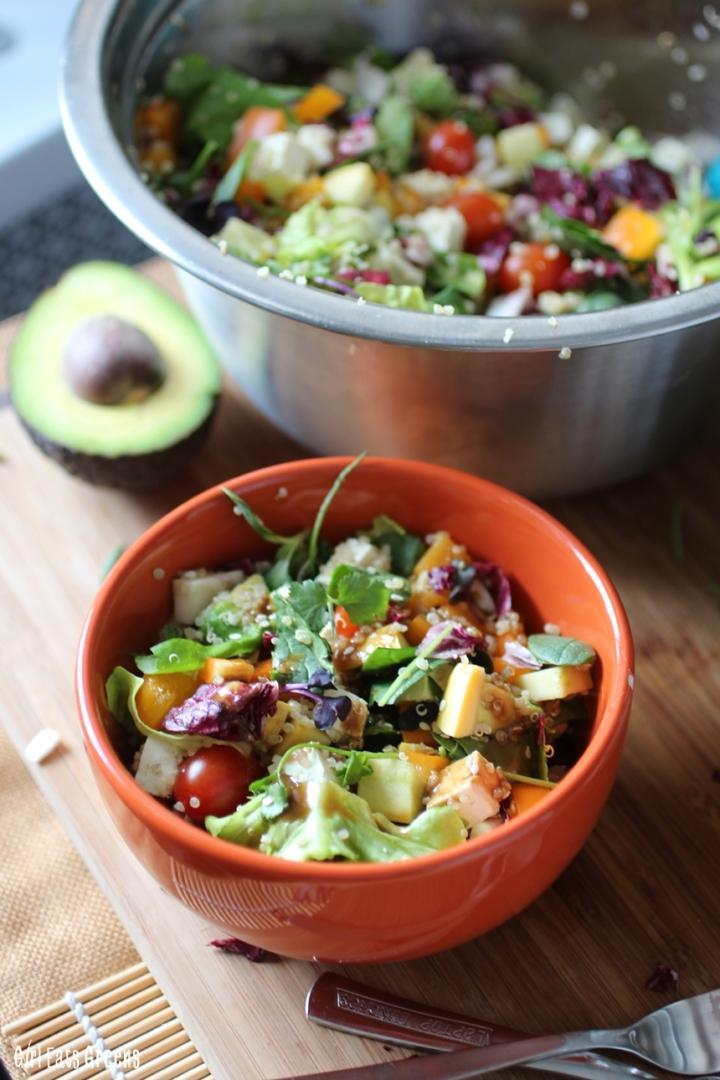 Rainbow Salad Ginger Sesame Dressing Vegan Vegetarian Gluten Free Girl Eats Greens_0014