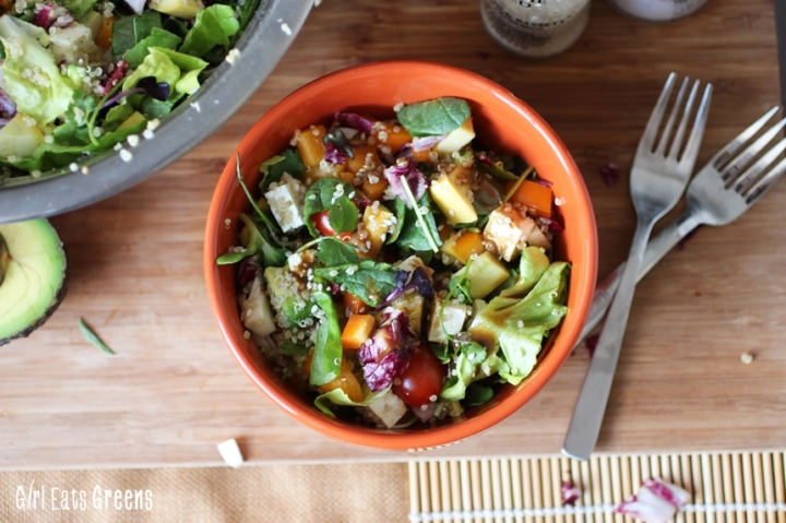 Rainbow Salad Ginger Sesame Dressing Vegan Vegetarian Gluten Free Girl Eats Greens_0016