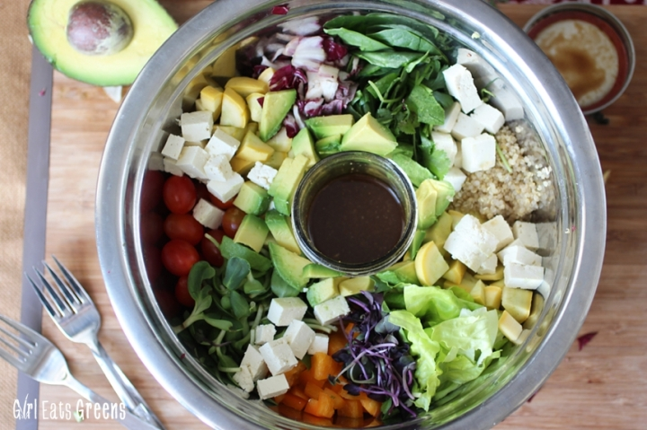 Rainbow Salad Ginger Sesame Dressing Vegan Vegetarian Gluten Free Girl Eats Greens_0021