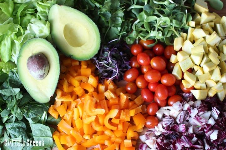 Rainbow Salad Ginger Sesame Dressing Vegan Vegetarian Gluten Free Girl Eats Greens_0026